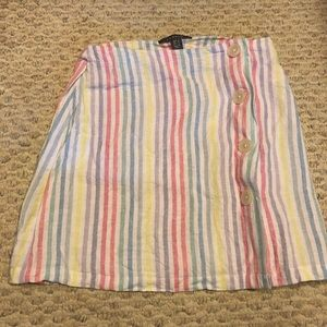 Linen striped skirt
